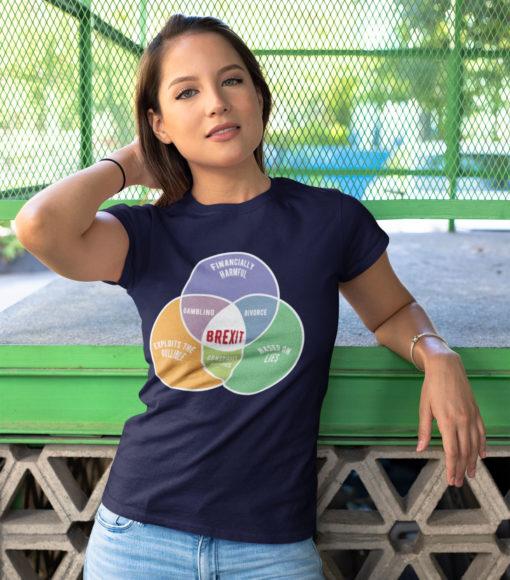 Brexit Venn Diagram women's t-shirt