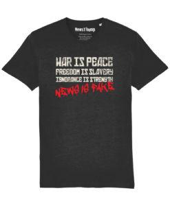 Orwell 1984 T-shirt in black War is peace