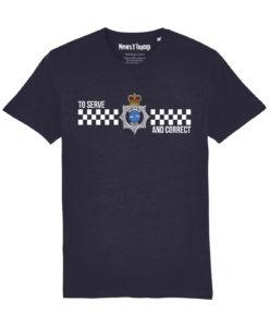 Grammar Police T-shirt in Navy