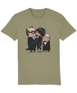 Eric and Ernie HappyToast T-shirt Sage green