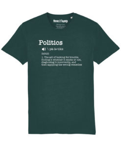 Politics Definition T-shirt in glazed green